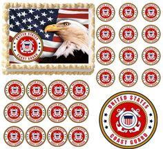 United States COAST GUARD Emblem Logo Edible Cake Topper Frosting Sheet-All Size #ProfessionalBakeryQuality