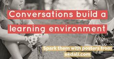 Conversation build a learning environment. Spark them with posters from Ekdali Book Reviews For Kids, Charts For Kids, Learning Environments, Primary School, Childrens Books, Kids Toys, Conversation, Posters, Student
