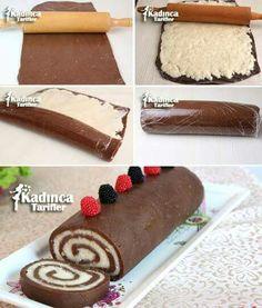 Bisküvili rulo pasta