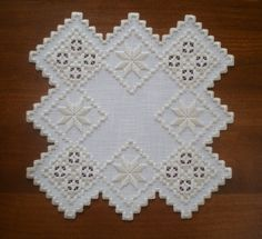 Unique Square Hardanger Doily by MnMom23 on Etsy