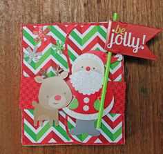 My Happy Place: A Little Home for the Holidays Accordion Gift Card booklet by Kathy Skou (cutting file by Lori Whitlock).