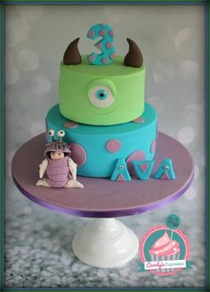 Monsters Inc and Boo - Cake by Candy's Cupcakes