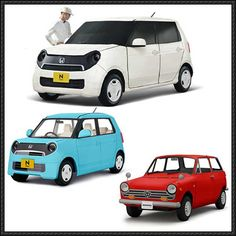 Honda N-One and N360 Kei Car Paper Models Free Templates Download - http://www.papercraftsquare.com/honda-n-one-n360-kei-car-paper-models-free-templates-download.html
