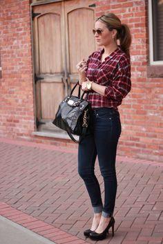 flannel/plaid shirt.