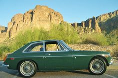 You must see this BEAUTIFUL low mile, rust free British Raceing Green MGB GT.
