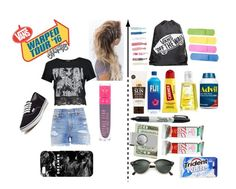 """Warped tour"" by yasisapunkmermaid on Polyvore featuring Boohoo, R13, Vans, Jeffree Star, Mr. Gugu & Miss Go, Lavanila, Carmex, Sharpie, American Coin Treasures and Ray-Ban"