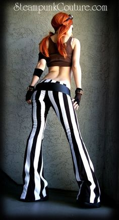 Would wear it a different way, probably with a jacket. Black and white steampants