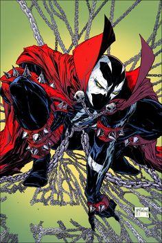Spawn Comics, Dc Comics Superheroes, Marvel Dc Comics, Anime Comics, Comic Villains, Comic Book Characters, Comic Books Art, Comic Art, Deadpool Funny