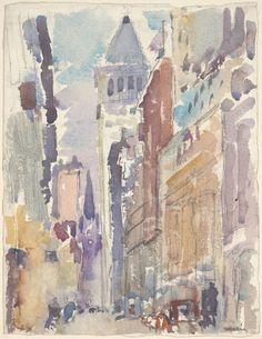 John Marin American, 1870-1953, Street Scene