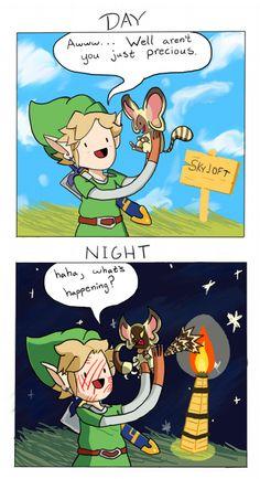 Remlit, Day and Night | #Zelda #Skyward_Sword #Wii #WiiU