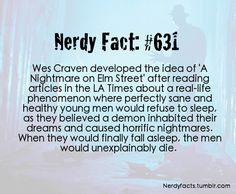 Nerdy Facts #631: orgins of Nightmare on Elm St