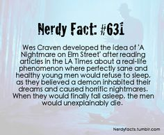 Nerdy Facts #631: orgins of Nightmare on Elm St