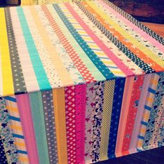 Washi Tape Gift wrapping / Envolturas washi tape project