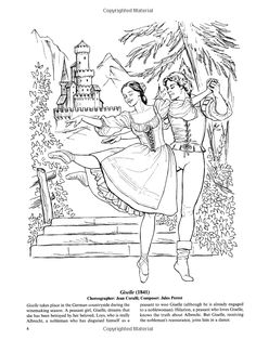 Favorite Ballets Coloring Book Dover Publications Coloring pages