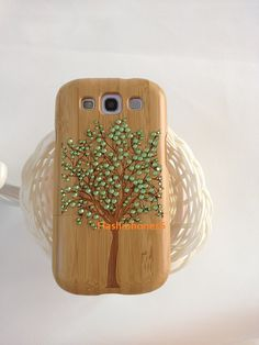 Natural bamboo tree Laser Engraving Wood Pattern by flashiphone5s, $28.99