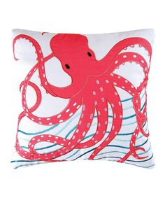 Look at this Pink Octopus Throw Pillow on #zulily today!