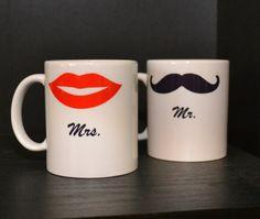 Mr. and Mrs. coffee mugs