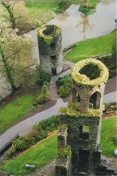 Blarney Castle, County Cork, Irelend - leaning over, upside down and backwards, into the abyss to kiss the stone, held only by an old sot. great trip