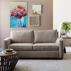 Sofa Winkel living room grey roll arm sofa from industries box