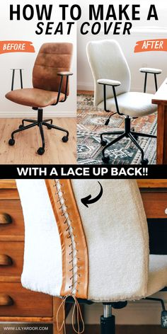 Easy DIY seat cover! Give your chair a makover! #sherpachair