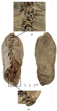 5500 Year Old Shoe, Chalcolithic (Copper Age) 3627-3377 BC, Vayots Dzor province of Armenia, some evidence suggests that we humans started wearing footwear perhaps 40,000 years ago.