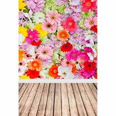 Allenjoy backdrop for photo studio flower wall wood for studio photo background vinyl cloth photocall newborn