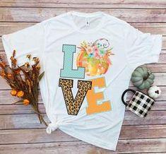 LOVE Pumpkin Leopard Shirt