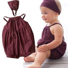 Cheap suit shop, Buy Quality rompers bebe directly from China suit store Suppliers: 2017 Hot selling Baby Girl clothes set baby rompers Denim harnesses/Deep red baby suit/ Headband+ baby romper with round dots Baby Outfits Newborn, Baby Girl Newborn, Baby Baby, Baby Kleidung Set, So Cute Baby, Baby Suit, Baby Girl Romper, Red Romper, Romper Suit