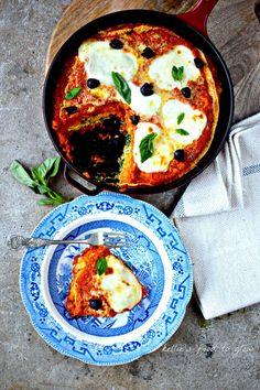 Farinata Lasagne with Creamy Spinach & Roasted Squash {gluten-free recipe}