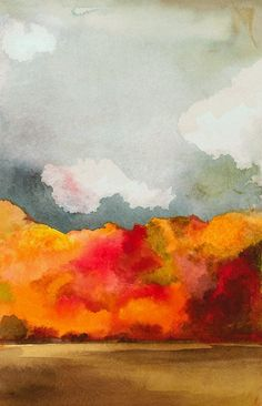 Autumn  -  watercolor