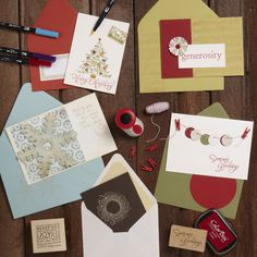 holiday card making class