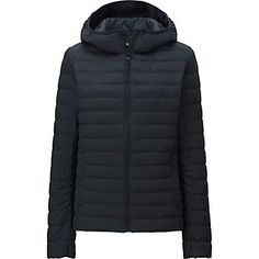 WOMEN ULTRA LIGHT DOWN STRETCH HOODED JACKET
