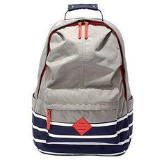 Hiigoo Nylon Casual Backpacks Waterproof Oxford Shoulders Bags Satchels (Grey) -- Learn more @