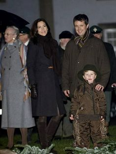 DRF: Queen Margrethe, Crown Prince Frederik, Crown Princess Mary and son Prince Christian