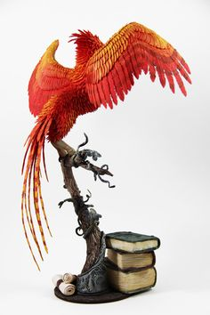 Fawkes phoenix Albus Dumbledore from Harry Potter. My Etsy shop: w. Harry Potter Nursery, Harry Potter Fan Art, Fantasy Creatures, Mythical Creatures, Phoenix Back Tattoo, Phoenix Harry Potter, Phoenix Images, 3d Printed Objects, Harry Potter Merchandise