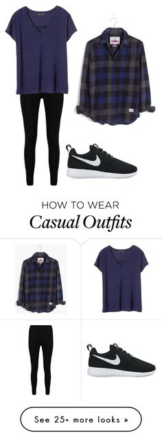 """Casual "" by kesnel on Polyvore featuring Boohoo, Banana Republic, Madewell and NIKE"