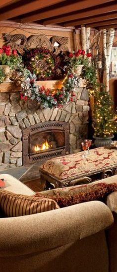 Rustic Christmas decor.
