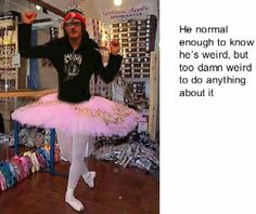 Mikey Way in a Tutu. Used to think it was photoshopped, but now I don't believe so. 1. Idk how I feel about this. 2. He has such a questionable fashion sense