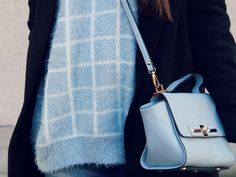 Pastel blue bag and sweater