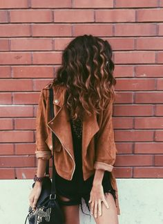 Jacket: perfecto brown perfecto kamel leather fall outfits fall colors hipster tan brown leather 70s