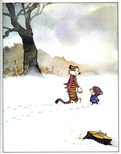 Frontispiece from The Calvin and Hobbes Lazy Sunday Book by Bill Watterson, published by Universal Press Syndicate, Illustrations, Illustration Art, Calvin And Hobbes Comics, Fun Comics, Fantasy, Hobbs, Comic Strips, Comic Art, Poster Prints