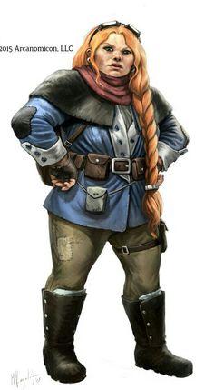 Female Dwarf Wizard - Pathfinder PFRPG DND D&D d20 fantasy