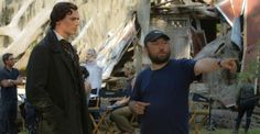 On the set of Abraham Lincoln: Vampire Hunter -- Benjamin Walker and director Timur Bekmambetov Tom Hiddleston, Abraham Lincoln Vampire Hunter, Fake History, Benjamin Walker, Dominic Cooper, Greatest Presidents, Mary Elizabeth Winstead, Film Review, Moving Pictures