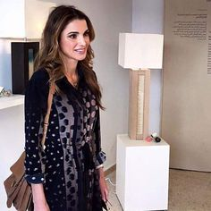 1 September 2016 - Queen Rania attends Amman Design Week in Raghadan - dress by Allsaints
