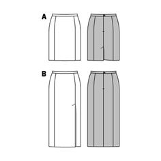 """narrow skirts are """"key-pieces"""" for a self-confident, feminine appearance. side panel seams and concealed walking slits in the back or in the front to one side. sewn-in lining for a perfect fit, free from creases"""