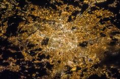 Paris, city of lights, from the space, by astronaut Chris Hadfield.