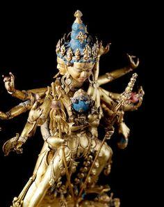 A gilt copper alloy figure of Chakrasamvara Tibet, 15th century