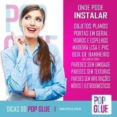 Sennnnnta, que lá vem a dica! Anota aí! #OndeInstalar #SejaPop  www.popglue.com.br  #PopGlue #Pop #Decor #Decoracao #Fashion #Sucesso #Dicas #Adesivos #AdesivosDecorativos #Amor