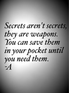 Image discovered by Oona. Find images and videos about quotes, pretty little liars and pll on We Heart It - the app to get lost in what you love. Preety Little Liars, Pretty Little Liars Quotes, Pretty Little Liars Tattoo, Pll Quotes, Movie Quotes, Pll Memes, Qoutes, Revenge Quotes, Pll Frases
