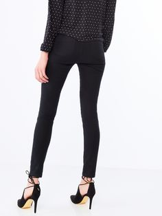 Materiałowe spodnie slim fit, SPODNIE, JEANSY, czarny, MOHITO